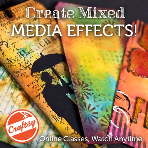 Inventive Ink - Colorful Mixed Media Effects - Online Mixed Media Art Class with Craftsy includes lifetime access