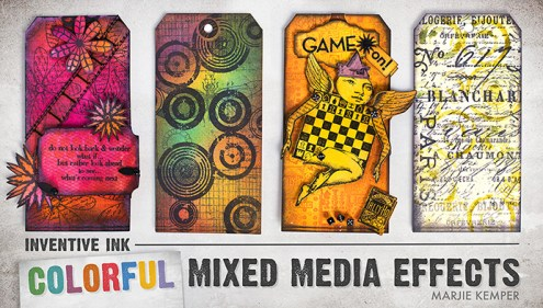 Inventive Ink - Colorful Mixed Media Effects - Online Workshop with Marjie Kemper