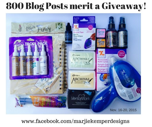 800 Blog Posts merit a Giveaway!