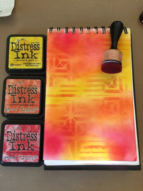 Distress Ink art journal tutorial
