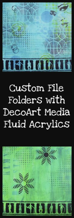 Video Tutorial - Create Custom File Folders with DecoArt Media Fluid Acrylic Paints (Marjie Kemper)
