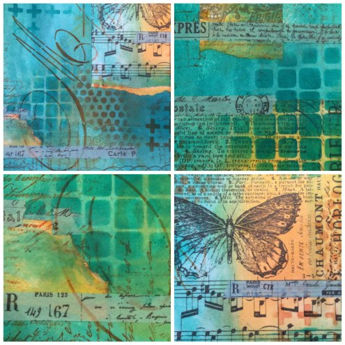 August Art Journaling - Art journal with Dylusions paint, stamps, stencils and more (Marjie Kemper)