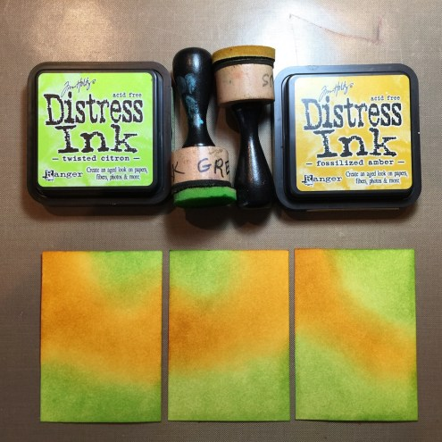 Distress Ink ATC Tutorial - Photo 2:5 - Marjie Kemper