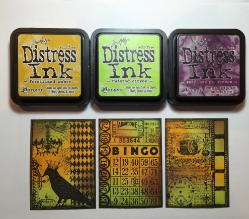 Distress Ink ATC Tutorial - Photo 4:5 - Marjie Kemper