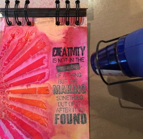 Small Dylusions journal page (Marjie Kemper