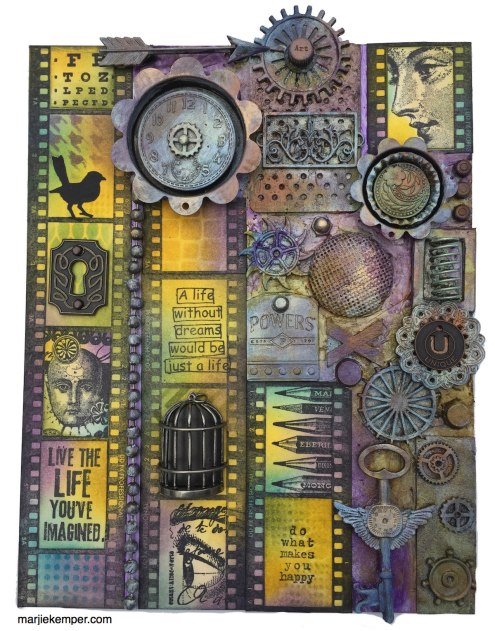 Mixed Media Art Panel with Distress Inks (Marjie Kemper)
