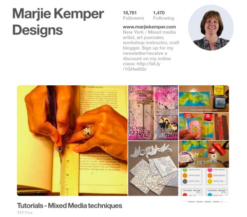 Behind-the-Scenes Business Tips for Artists, Entrepreneurs, and Small Business Owners - (Marjie Kemper) Today's tip is how to create a Pinterest Rotating Showcase
