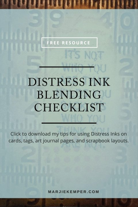 Get your free Distress Ink Blending Checklist