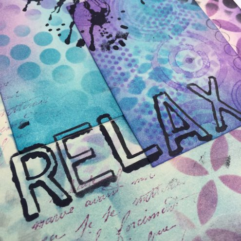 Combining stamps, stencils and paints in your art journal (tutorial)