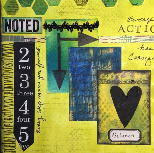 Art Journal Noted - Layered ATCs - Marjie Kemper