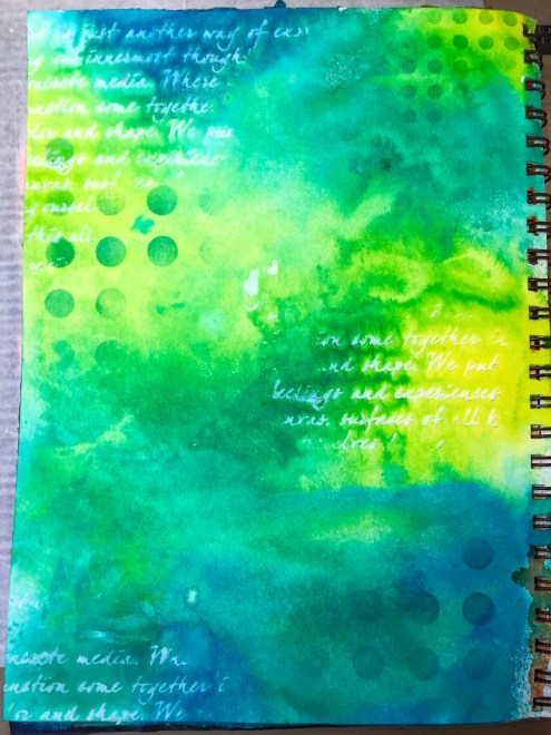 Art journal page in progress - Dylusions - Marjie Kemper