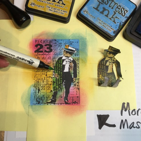 Using masks while stamping 2 (Marjie Kemper)