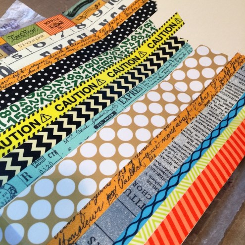 Kemper art journal tutorial with washi tape background