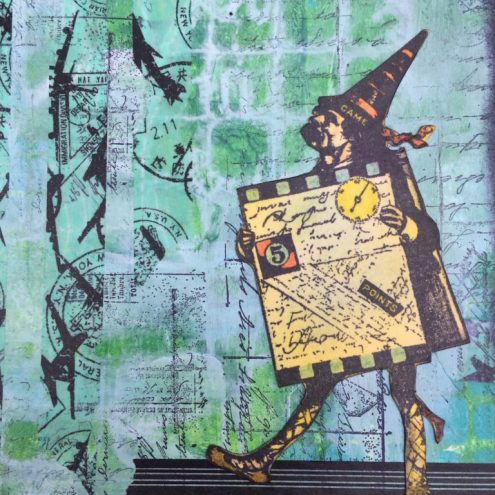 Art journaling with stamps and stencils (Marjie Kemper)