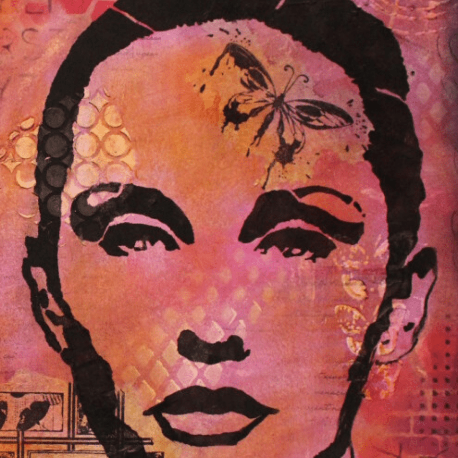 Using stencils in your art journal (Marjie Kemper)