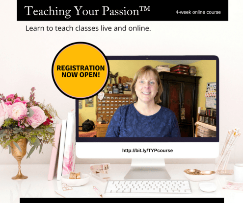 Teaching Your Passion™ course with Marjie Kemper