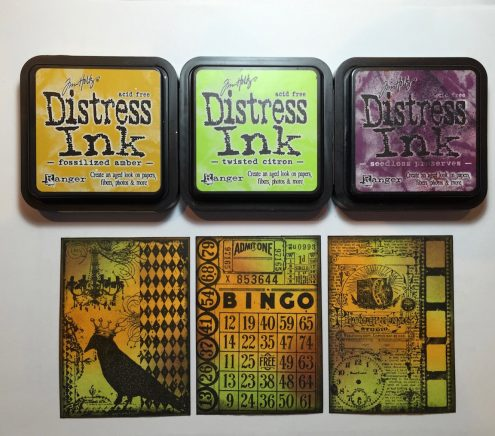 Distress Inks Tutorial Using Artist Trading Cards