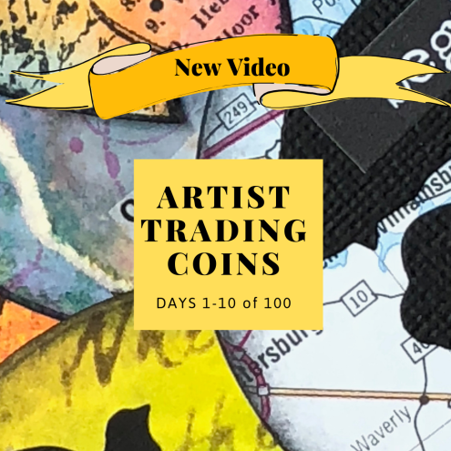 Video of Artist Trading Coins - Days 1-10 of 100 ATCs (Marjie Kemper)