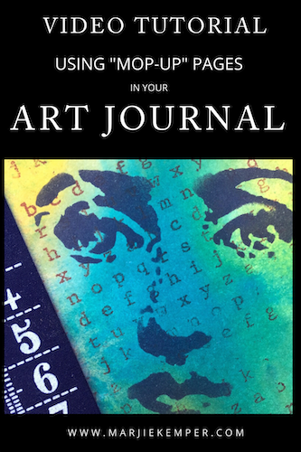 art journaling using mop up pages video tutorial