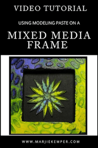 mixed media frame video tutorial