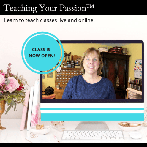 Teaching Your Passion™ online course self-study version now open with Marjie Kemper - great for those who want to learn how to teach online as well as in person