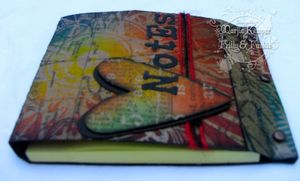 Distress Ink Resist - Sizzix Mini Matchbox die - Post-it Cover - Marjie Kemper