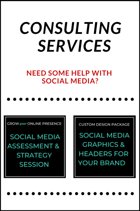 Consulting services - Social Media Assessment and Strategy Session, and Custom Social Media Graphics for your Brand