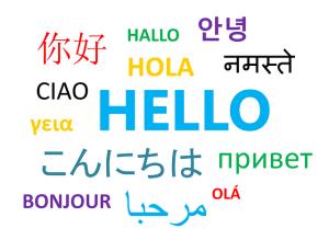 Bonjour traduit dans plusieurs langues