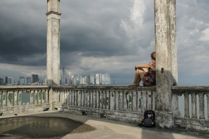 Overlooking Panama City from the Ruins of Noriega's Palace (US Navy SEAL Team4 destroyed it in 1989)
