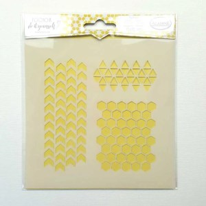 stencil 15x15 geometrie honeycomb