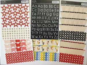 Letterstickers vintage