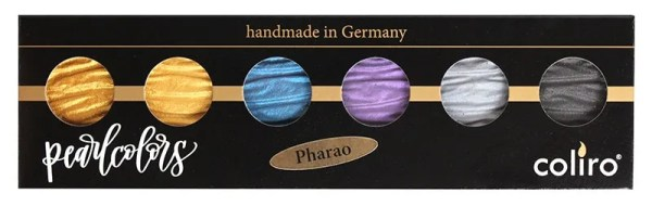 Coliro Pearl Color set 6 colors pharao verpakking