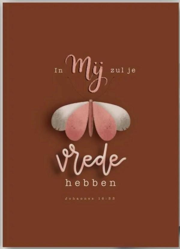 Ansichtkaart Johannes 16 vers 33 In Mij zul je vrede hebben