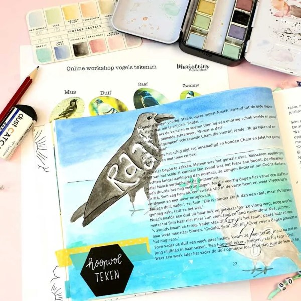 online workshop vogels tekenen