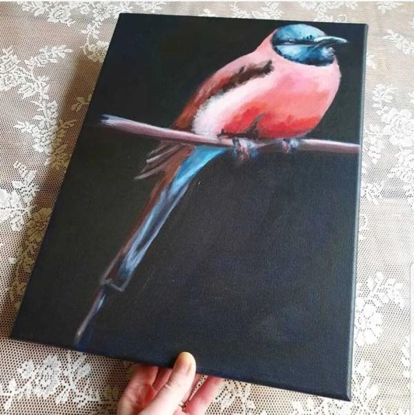 schilderij tropische vogel marjolein stoové