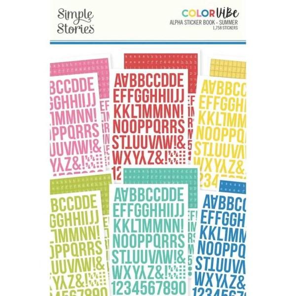 Sticker boek Simple Stories summer