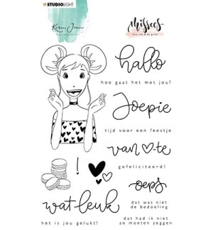 Karin Joan Clear stamp dutch text Missees collection nr 11