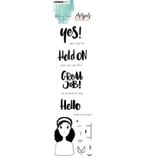 Karin Joan Clear Stamp Eng.Text Missees Collection, nr.08