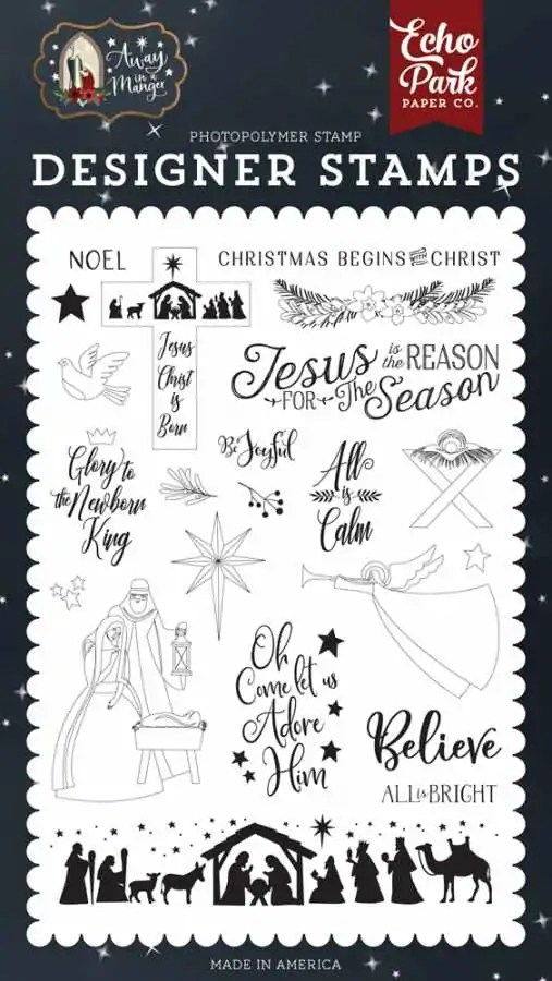 Clearstamps away in a manger