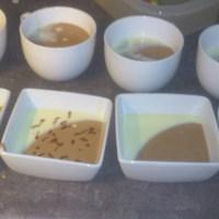 Twee kleuren chocolade mousse (zonder ei!)