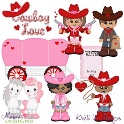 Cowboy Love SVG Cutting Files Includes Clipart - $2.28 ...