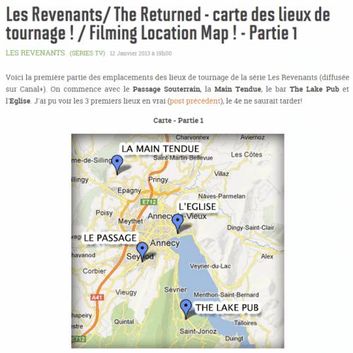 Lieux Tournage Serie Revenants