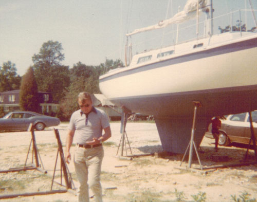 Glen Albrecht My Dad with Boat