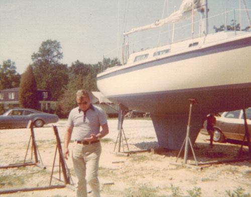 Glen Albrecht My Dad with Boat