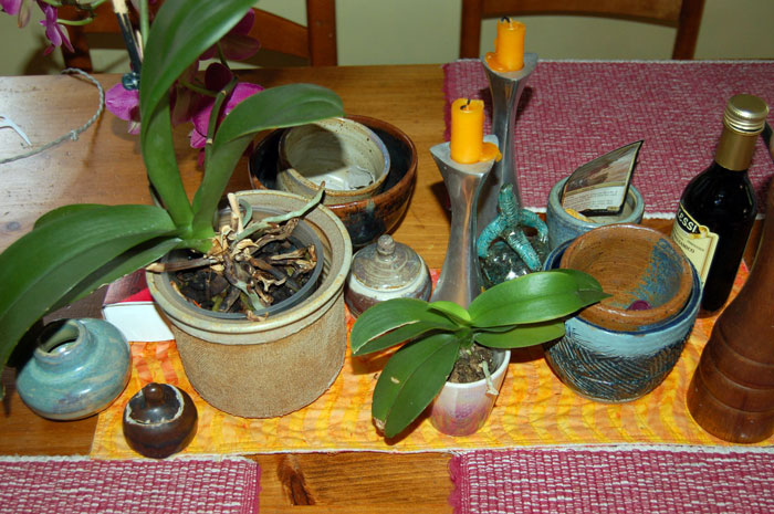 Pots made by Dylan