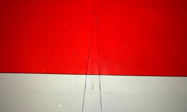 trimmed center fold