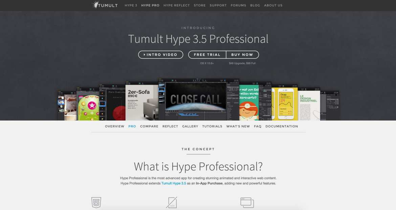 Hype web design tools