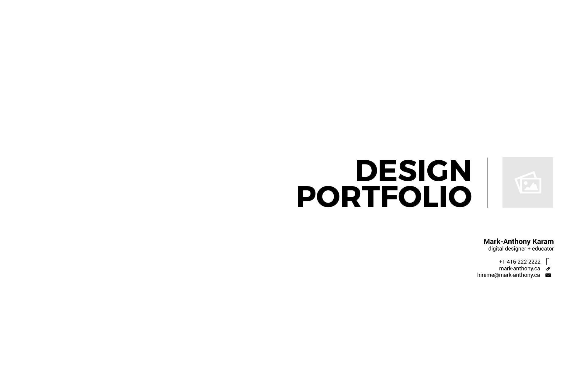 Create a PDF Portfolio Using Adobe Illustrator - mark-anthony ca