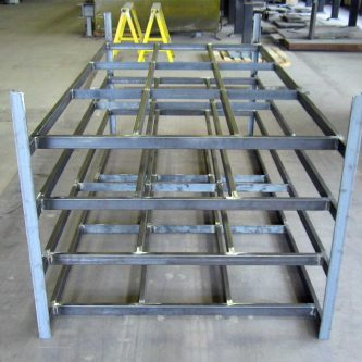 A Sheet Metal Rack fabricated by Mark Metals