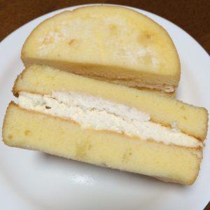 チーズ半分にカット